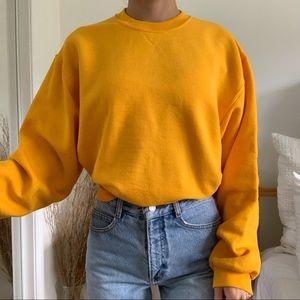 Vintage Jerzees Yellow Crew Neck Sweatshirt